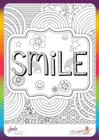 smile colouring in
