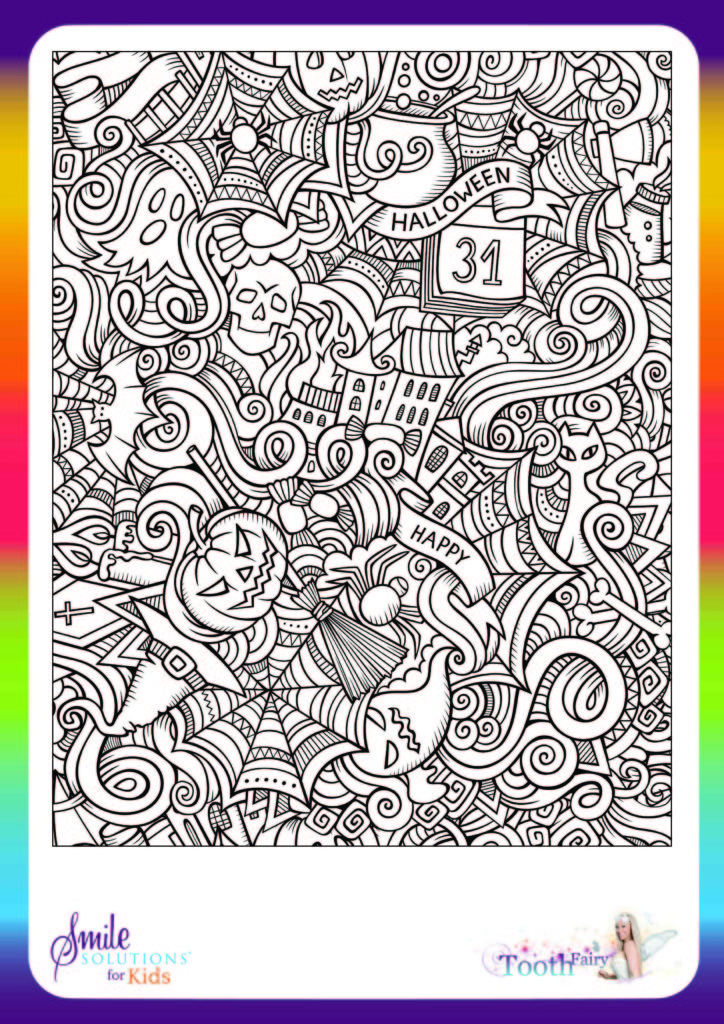halloween colouring in