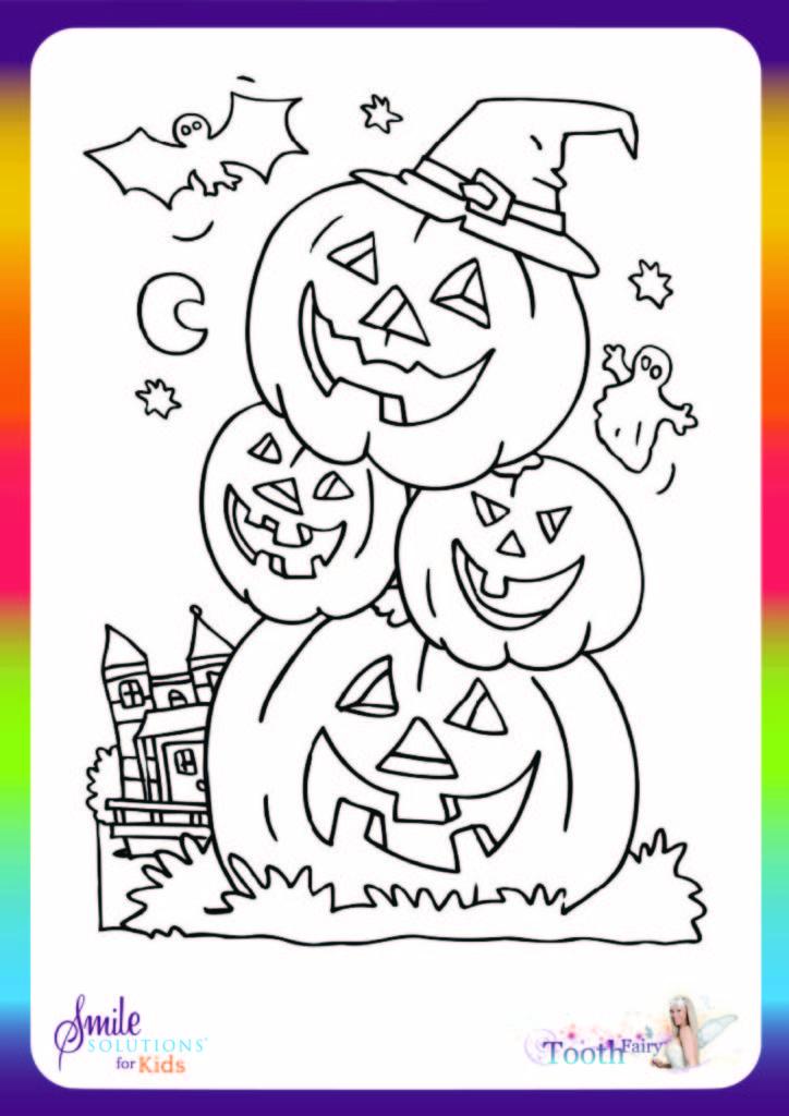 halloween colouring in jack-o-lanterns