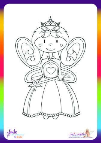 tooth fairy colouring in