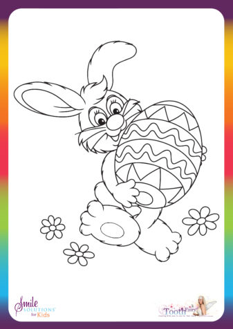 Easter Bunny Colouring In
