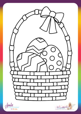 Easter Egg Basket Colouring In