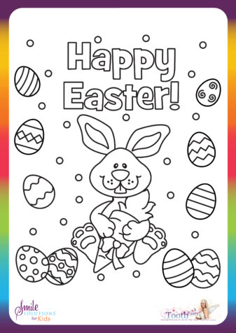 Happy Easter Colouring In